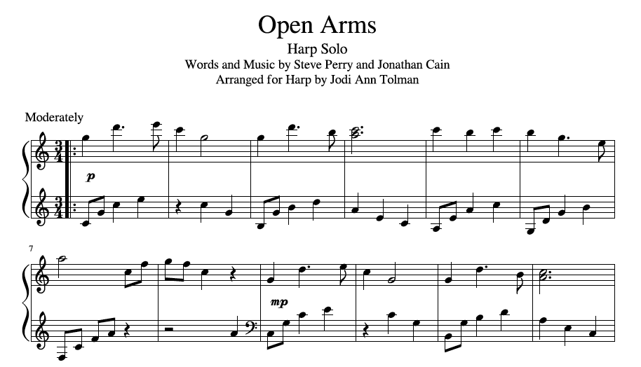 open arms journey sheet music - Anta.expocoaching.co