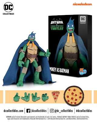 San Diego Comic-Con 2019 Exclusive DC Comics x Teenage Mutant Ninja Turtles Michaelangelo as Batman Action Figure by DC Collectibles