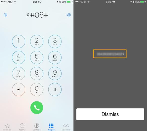Telefon uygulamasından IMEI numaranızı bulma.