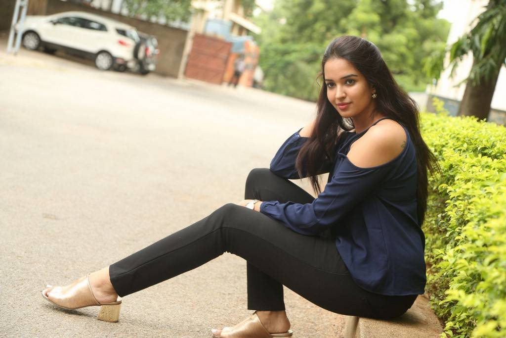 Actress Pujita At Darshakudu Movie Success Meet Gallery