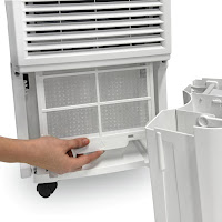 Washable Air Filter removes dust, allergens & odors on Ivation IVADH30PW dehumidifier