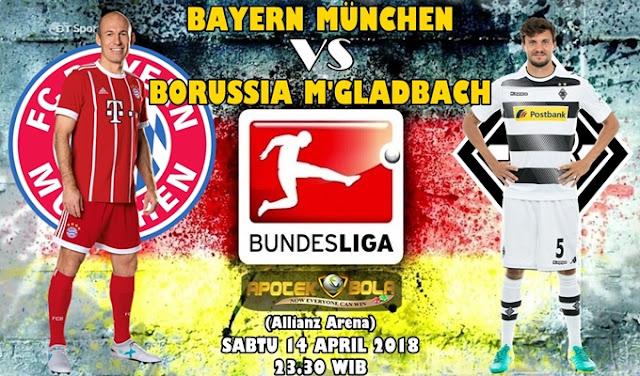 Prediksi Bayern Munich vs Borussia Moenchengladbach 14 April 2018