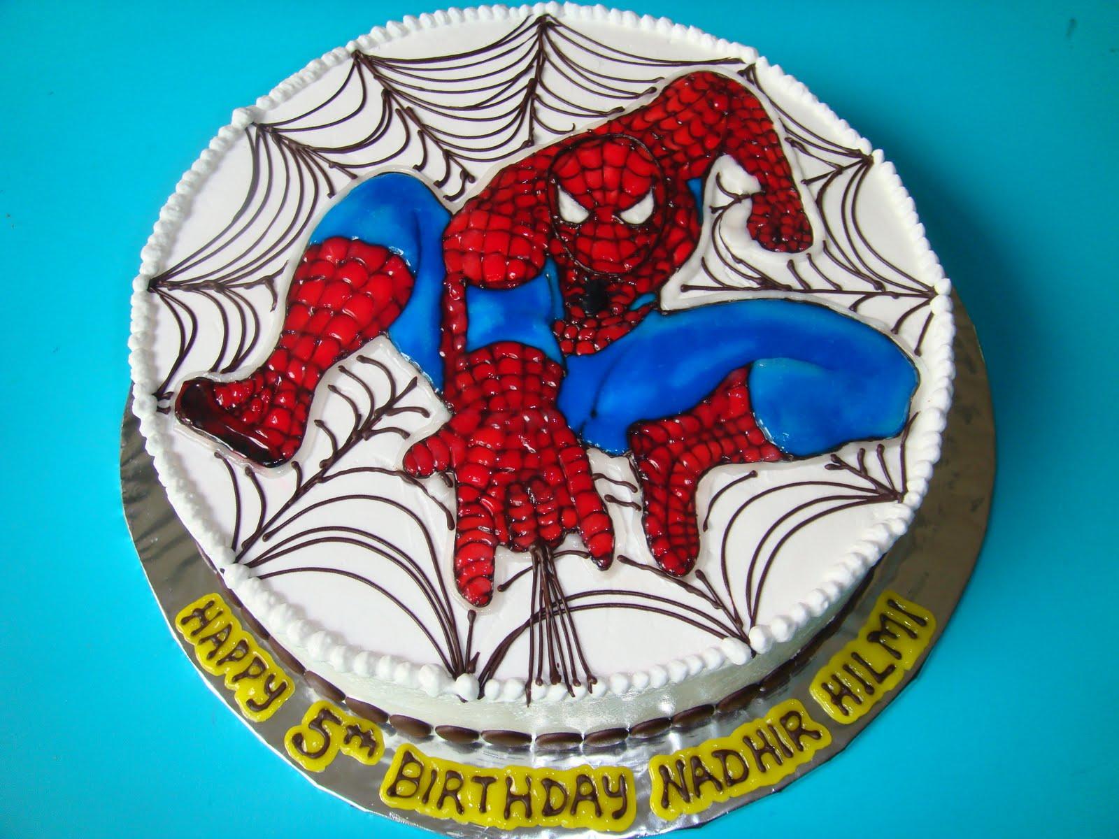 Yummy Baking Spiderman Birthday Cake