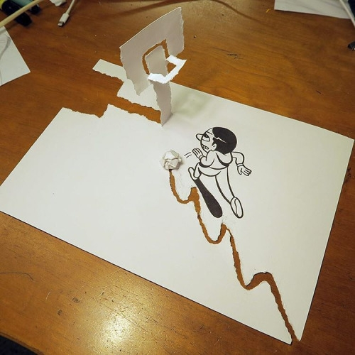 10-Husk-Mit-Navn-2D-Drawings-become-3D-with-the-help-of-Paper-www-designstack-co