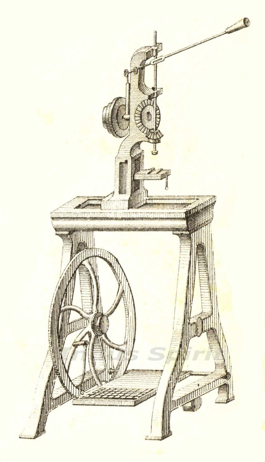 Ancienne machine à percer