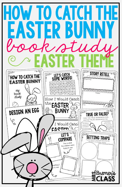 How to Catch the Easter Bunny book study companion activities to go with the Easter themed book by Adam Wallace & Andy Elkerton. Perfect for whole class guided reading, small groups, or individual study packs. Packed with lots of fun literacy ideas & guided reading activities. Common Core aligned. K-2 #bookstudies #bookstudy #picturebookactivities #1stgrade #kindergarten #literacy #guidedreading #easterbooks #bookcompanion #bookcompanions #1stgradereading #2ndgradereading #kindergartenreading