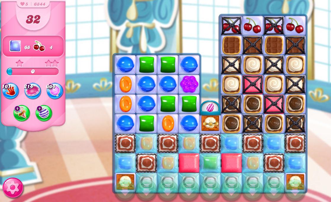 Candy Crush Saga level 6844