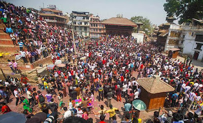celebrating holi in nepal