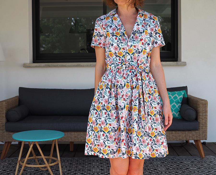 Cette robe (modèle de base   chemisette Marie-Claire Idées, billet blog à  relire ici) c est un peu pareil... Je la revois en photo en écrivant ce  billet et ... 8d5a9e70b849