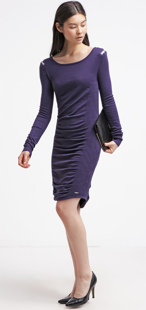Robe pull violette Guess