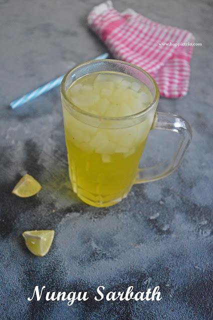 Nungu Sarbath Recipe | Palm Fruit Drink Recipe | Ice Apple Recipes