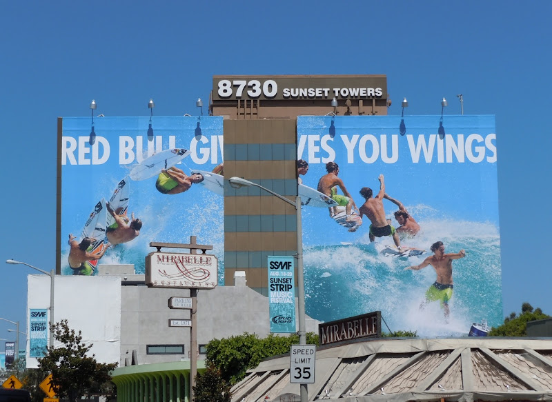 Red Bull Surfer billboard