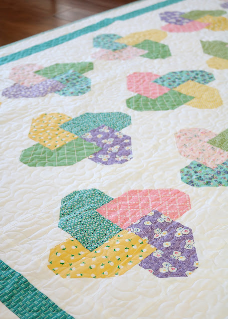 Winsome quilt pattern from Fresh Fat Quarter Quilts book by Andy Knowlton of A Bright Corner - twelve fun fat quarter quilt projects to sew and love