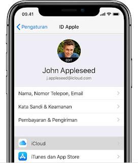 Pengaturan apple id