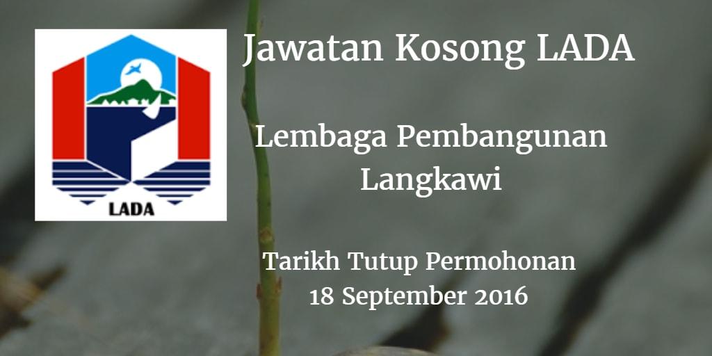 Jawatan Kosong LADA 18 September 2016