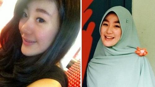 foto larissa chou sebelum make hijab