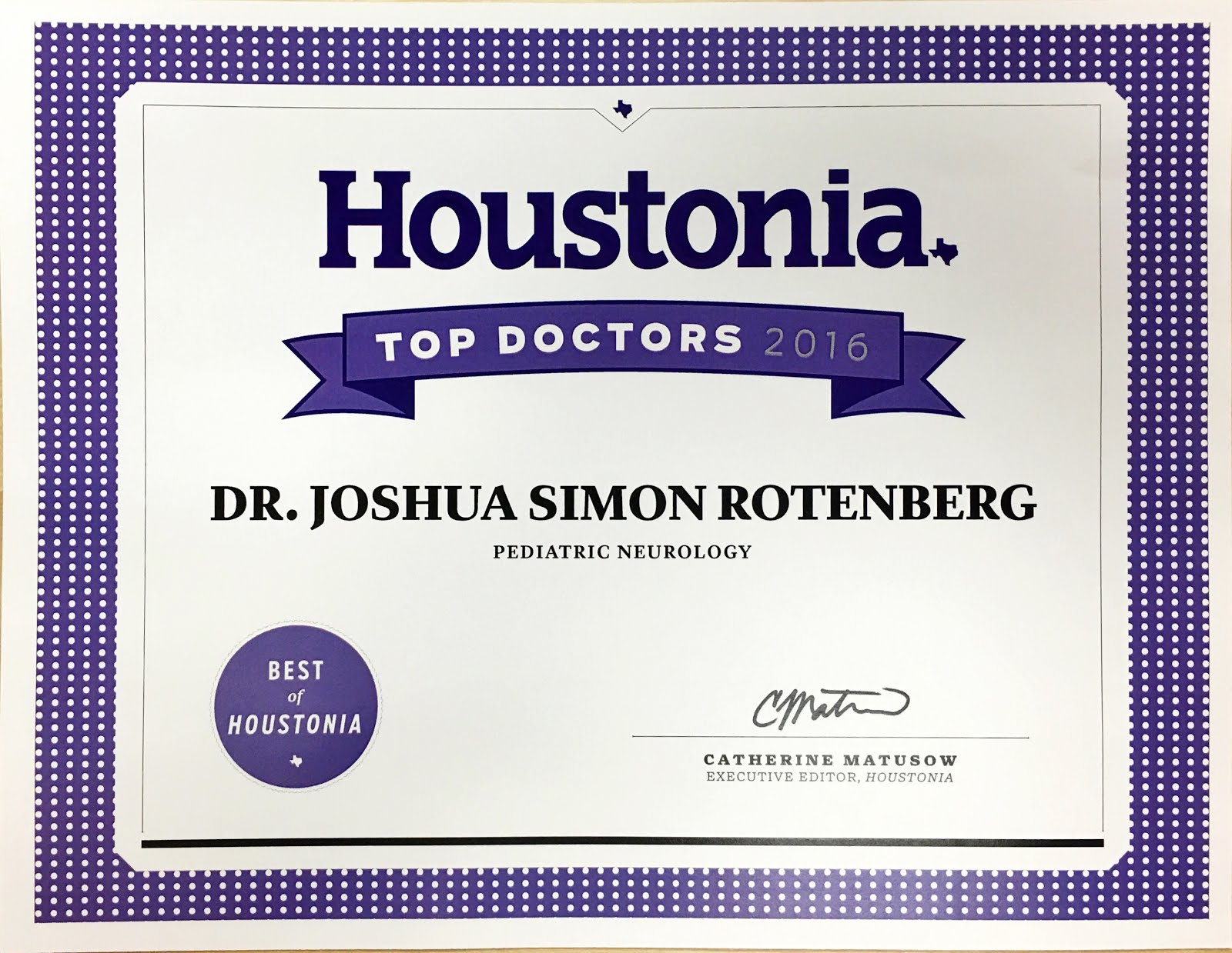Houston Top Doctors 2016