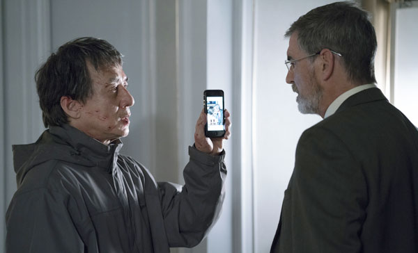 Quan (Jackie Chan) and Liam (Pierce Brosnan) encounter face-to-face in THE FOREIGNER (2017)