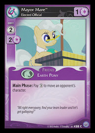 My Little Pony Mayor Mare, Elected Official Premiere CCG Card