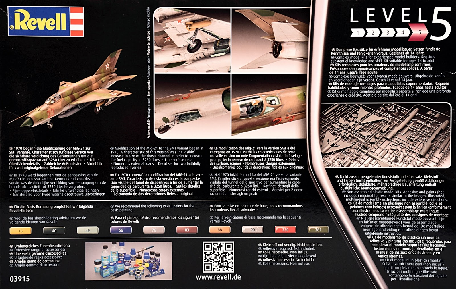 Scale Model News: 1:48 SCALE MiG-21 SMT FROM REVELL