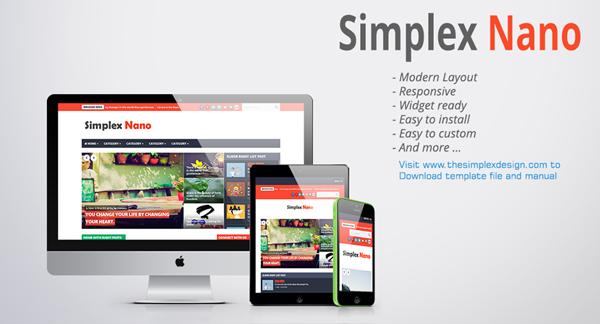 Simplex Nano Newsportal Responsive Blogger Template