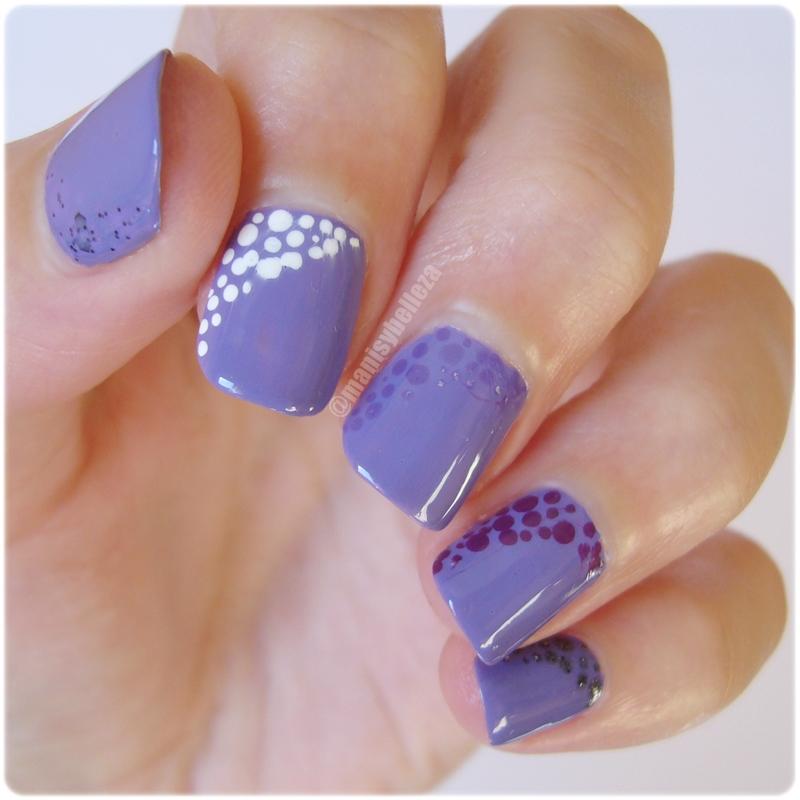 Manicuras Y Belleza Nail Art Fácil Morado Degradado Retos