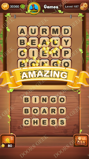 Word Bright Level 187 Answers, Cheats, Solutions, Walkthrough for android, iphone, ipad and ipod