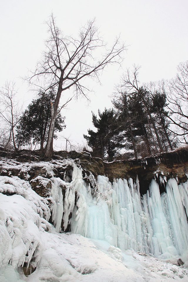 Minnesota winter wilderness