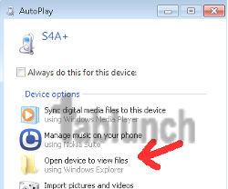 Jendela AuotPlay pada Windows OS