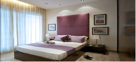 pink bedroom,simple and beautiful