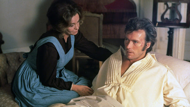 Geraldine Page and Clint Eastwood in The Beguiled (1971)
