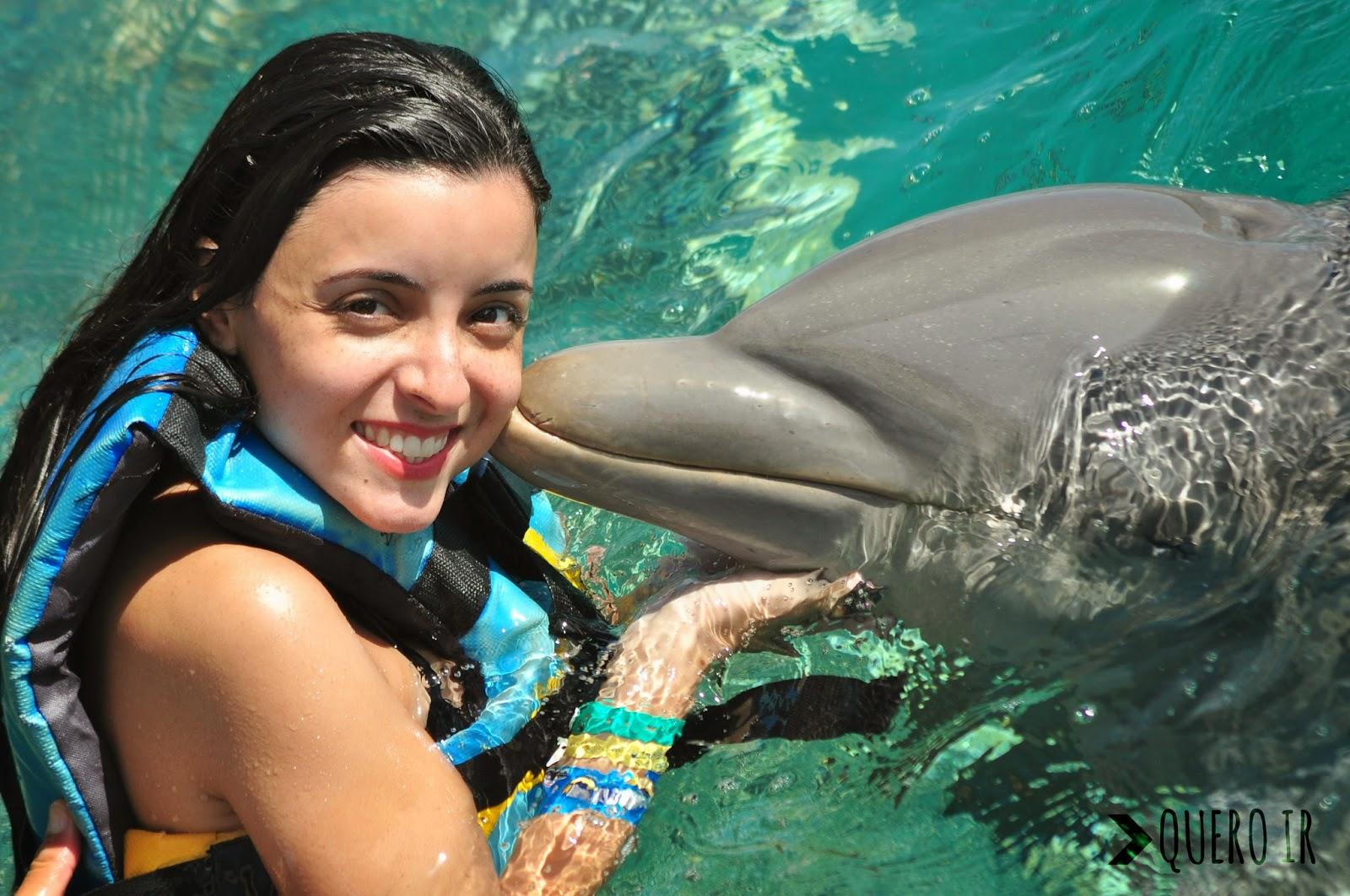 nadar golfinhos cancun