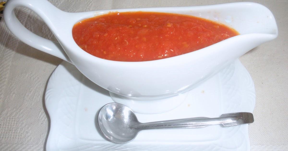 Aqu se cocina salsa de tomate - Salsa de tomate y nata ...
