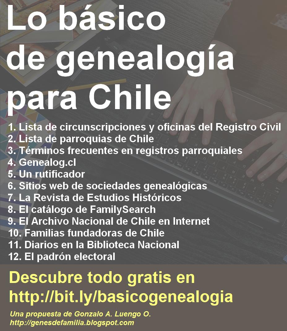 Genes de familia: Lo básico de genealogía para Chile