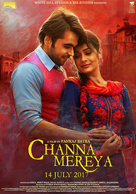 Poster Of Pollywood Movie Channa Mereya 2017 300MB HDRip 480P Full Punjabi Movie