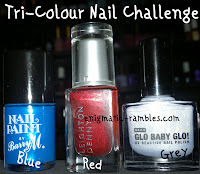 tri-colour-nail-challenge-leighton-denny-be-my-berry-primark-glo-baby-glo-barry-m-retro-blue