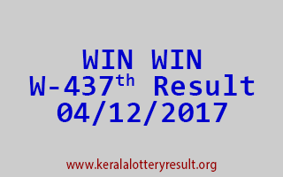 WIN WIN Lottery W 437 Results 4-12-2017
