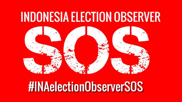 TAGAR The #INAElectionObserverSOS  terus melonjak ke trending Twitter dan Google.