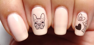 Dog Decal Nails