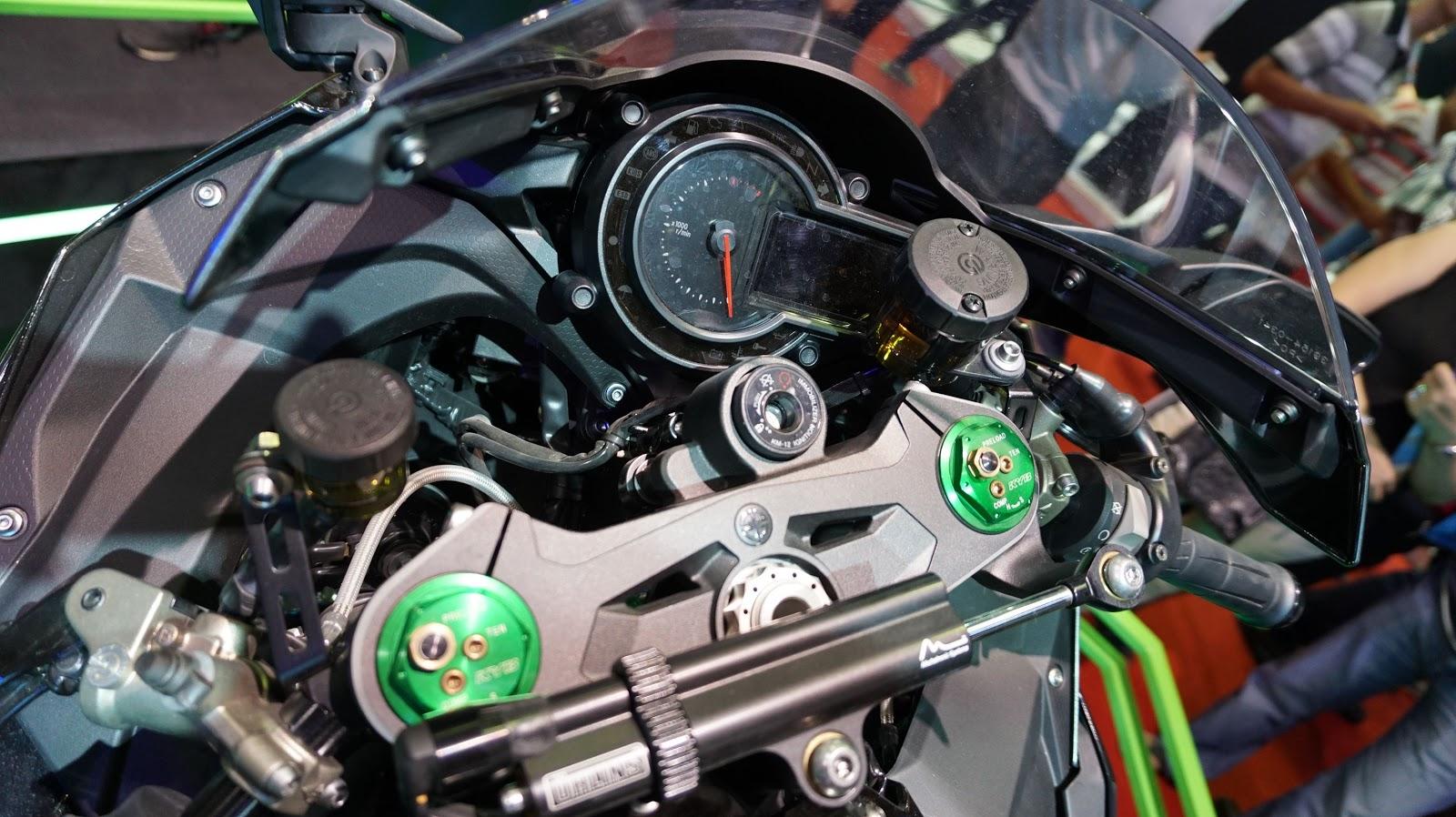 Cận cảnh siêu xe Kawasaki Ninja H2 tại VMS 2016