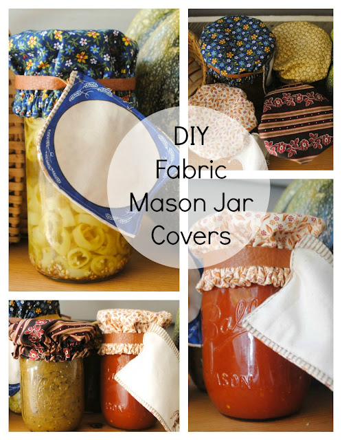 Reusable Fabric Mason Jar Covers