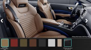 Nội thất Mercedes SL 400 2016 màu Vàng Sand X10