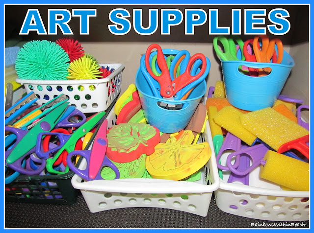 photo of: Organize Classroom Art Supplies
