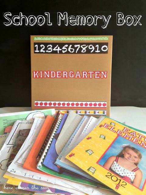 How to Make a School Memory Box I herecomesthesunblog.net