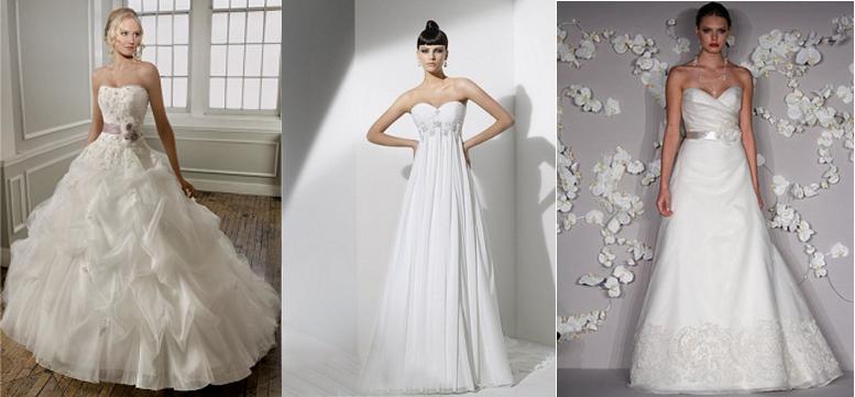 vestidos de novia para cuerpos triángulo