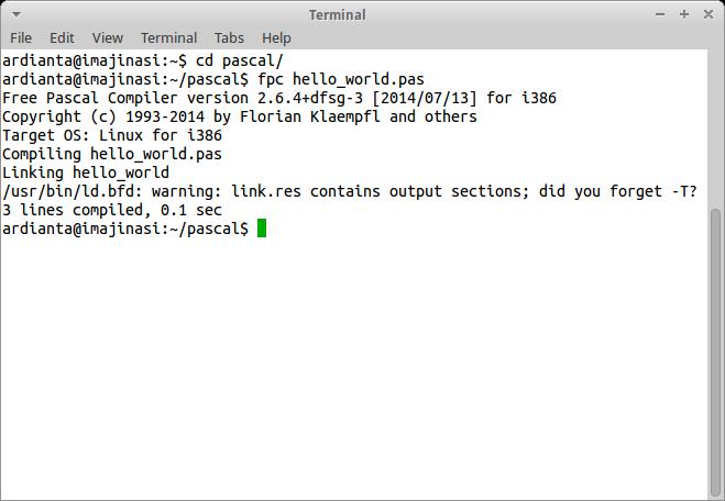 Kompilasi Program Pascal
