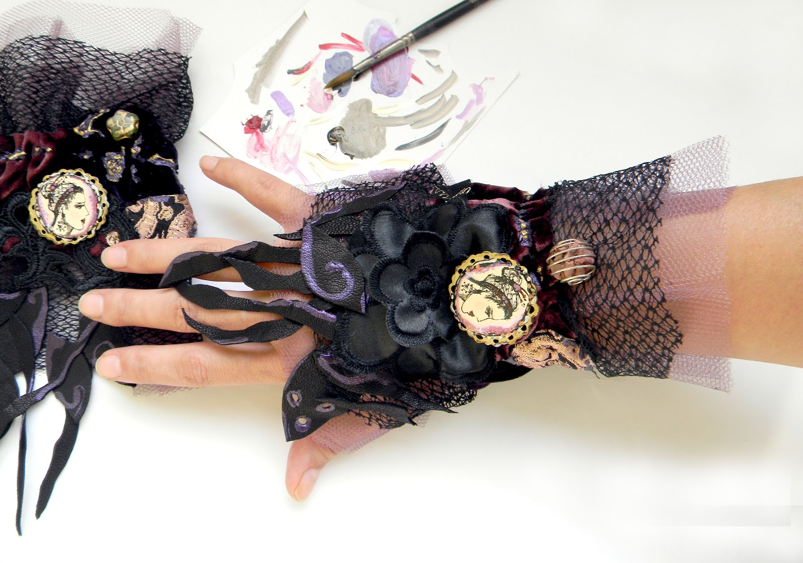 Eclectic Urban Fashion Cuffs Steampunk Baroque Gothic