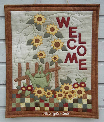 Ulla S Quilt World Sunflower Quilts Wall Hanging