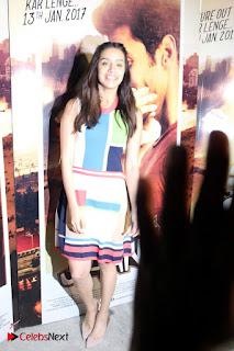 Bollywood Actress Shraddha Kapoor Latest Stills in Colourful Short Dress at OK JAANU Movie Press Conference  0008.jpg