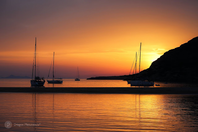 Fabulous Sunset in Kolona Bay (Cyclades, Kithnos, Greece)